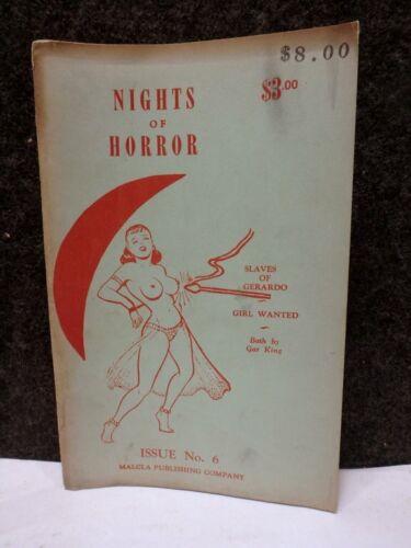 RARE 1954 NIGHTS OF HORROR Joe Shuster SUPERMAN COMIC BOOK BONDAGE # 6 1ST ED