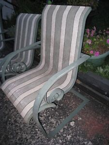 2 ALUMINUM (Don't rust) Patio Chairs, lightweight,used,good cond