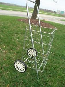 Vintage 1960's Laundry / Grocery Two Wheeled Cart -Perfect Shape Kitchener / Waterloo Kitchener Area image 2