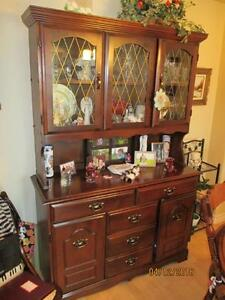 BUFFET & HUTCH - Solid Wood 2 Sections