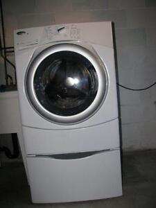 Front Loading Washing Machine with Stand  +  dryer