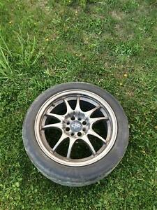 Rota Circuit 10 Rims Tires Aluminum 4x100 civic integra