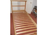 Single bed (Ikea) with mattress and cover.