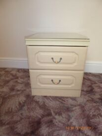 As New 1 Cream Bedside Table