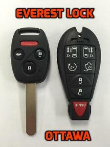 TRANSPONDER CAR KEYS & REMOTES Cut & Program - CALL 613-248-3535