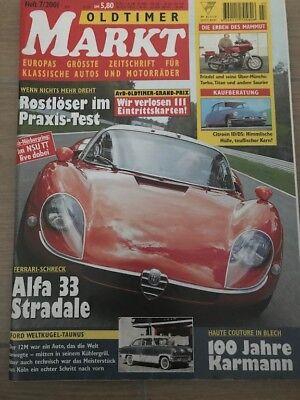 Oldtimer Markt 7 2001 Alfa 33 Stradale Citroen ID DS Münch Mammut VW Karmann