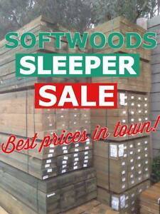 SOFTWOODS Treated Pine Sleepers. BEST DEALS IN TOWN From $11.40ea Modbury Tea Tree Gully Area Preview