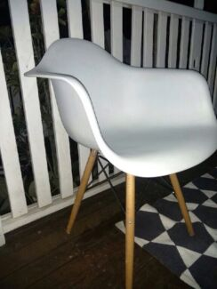 Set of four replica eames chairs
