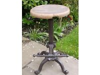Rustic Tractor Seat/Bar Stool Vintage Antique Iron/Wood Stool