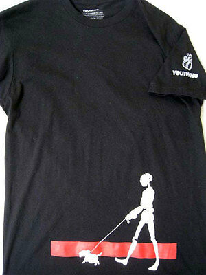 Robot Android Walking A Dog On Leash - You & Who Black S Small T-shirt New NWOT