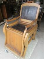 PRE 1870 ALL WOOD BARBERS CHAIR