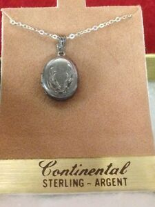 Sterling Silver Locket and Chain