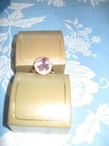 Pink Oval Multifaceted Ring – size 10