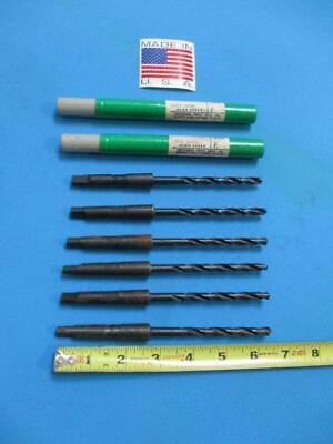 Letter F High Speed 1 Morse Taper Drill Bits U.s.a. 7 Pc. Lot New
