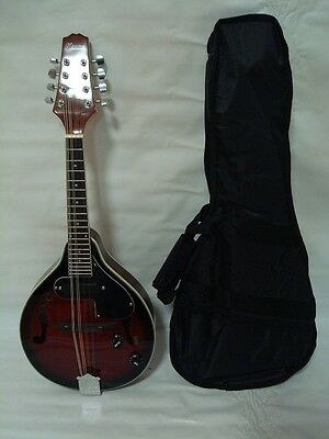 A-Style Acoustic Electric Mandolin, Free Gig Bag, Redburst, Brand New