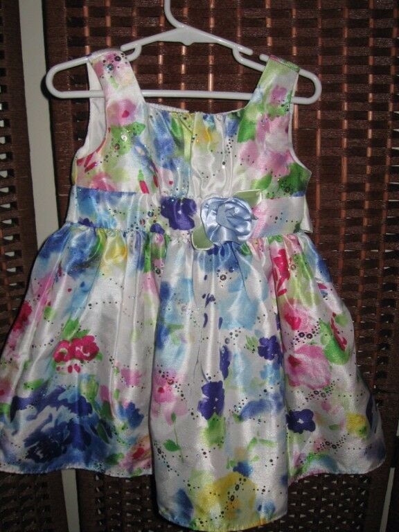 Youngland floral dress 3 3T rainbow floral sparkle party young land dress up