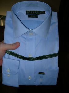 Neuf 16.5 34/35 Ralph Lauren Dress Shirts Chemises habillées