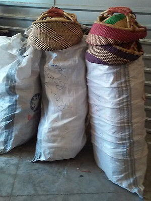 WHOLESALE CLEARANCE Lot of 30 ! AUTHENTIC Large BOLGA Market Basket from GHANA