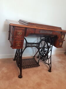Antique singer sewing machine table buy and sell furniture in singer sewing table watchthetrailerfo