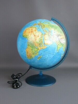 Vintage Globe Table with Light Globe Instructional 40cm