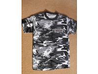 Men's Black Camo Techno T-Shirt Size Large
