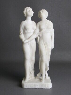 Antique Statue Sculpture Figure Women Powder Of Marble Period Years' 30/40