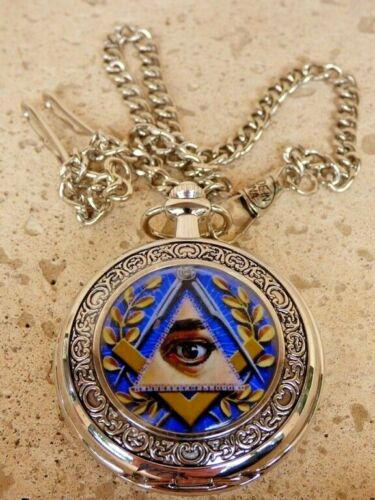 Masonic Square and Compasses All Seeing Eye Mason Pocket Watch - The Eye
