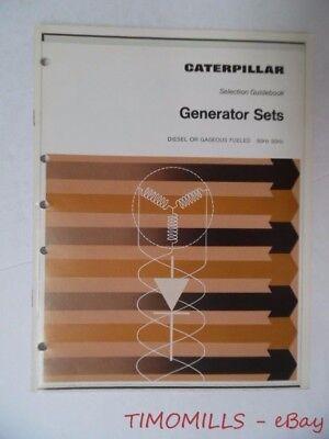 1969 Caterpillar Section Guidebook Catalog Diesel Gaseous Generator Sets Vintage