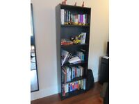 practically as NEW - Black-brown bookcase COLLECTION ONLY