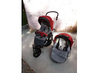 Jane Slalom Matrix Travel System - integrated travel cot, pram, car seat and buggy.