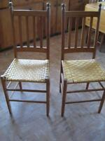 4 ANTIQUE CANE CHAIRS .