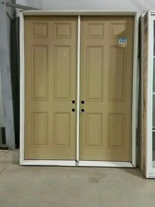 "36"" FIBERGLASS DOORS - 6-PANEL SOLID CORE - STAINABLE/PAINTABLE"