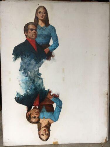 LOU MARCHETTI Original Novel Illustration Painting very rare