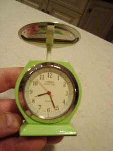 """Urban Station Heavy Cast Weigh Scale Clock - 4.5"""" tall x3"""" Kitchener / Waterloo Kitchener Area image 2"""