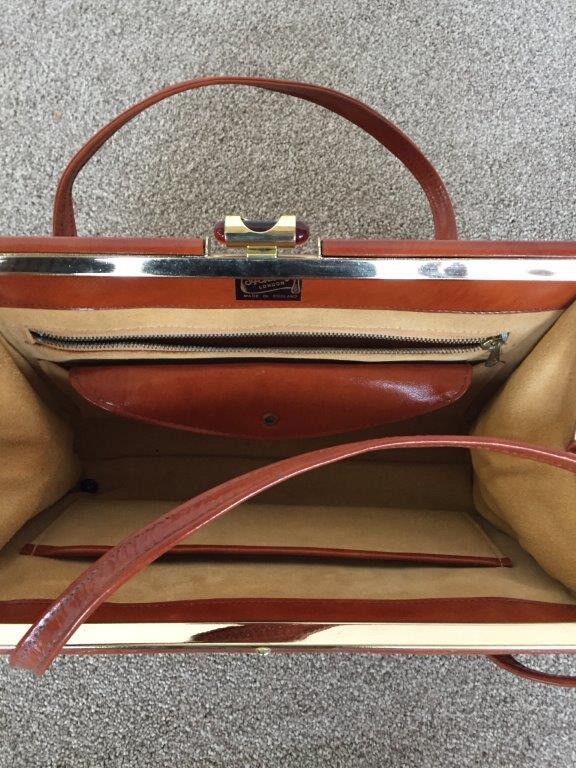 Handbag Vintage 1960 70 S Ackery London Tan