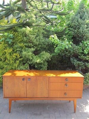 Amazing Mid-Modern 1960's Rosewood & Teak Compact Credenza Buffet Sideboard