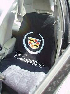 ONE 2010 2017 Cadillac Logo Black Seat Cover Armour Towel ATS CTS Escalade