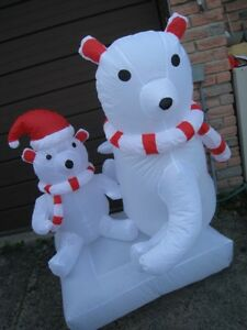 Brand New Large 6' Inflatable Polar Bears with light