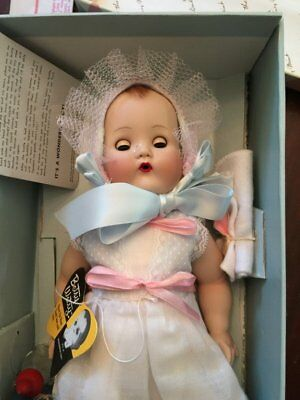 "DANBURY MINT 12"" PORCELAIN BETSY WETSY DOLL NRMINT WITH  ACCESSORIES AND ALL PAP"