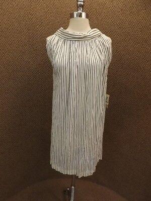 Atomic Black & White Vtg 1960s NEW NOS Miami Fashion Summer Short Sheath Dress S