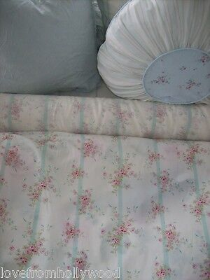 Rachel Ashwell Shabby Chic fabric Bemberg Silk Roses pale aqua pink flowers