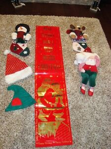 Set of 2 Christmas Stockings -Shown in these pictures $8/both Kitchener / Waterloo Kitchener Area image 1