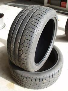 "Two 19"" Pirelli P-Zero High Performance tires"