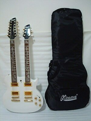 Ktone 6/12 String Electric Double Neck Guitar, Set Neck with