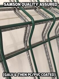 Samson Steel palisade fencing and V-Mesh Panels