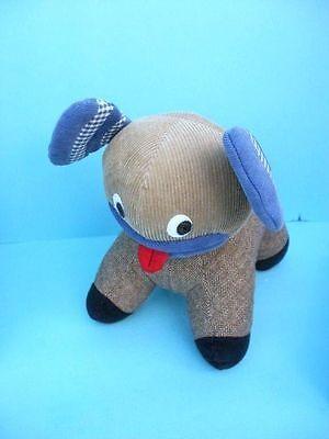 Pottery Barn Kids Wacky Funky Knit Plush Bed Toy Stuffed Animal Dog Puppy