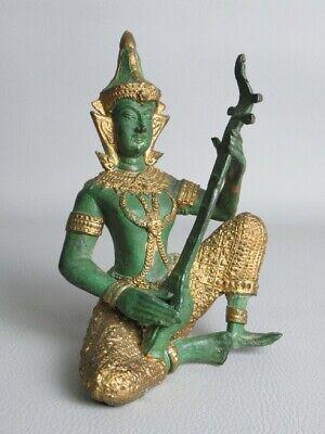 Goddess Viola Player Sculpture Bronze Statue Votive Eastern Period Xx Century