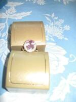 Pink Oval Multifaceted Ring - size 10 - NEW
