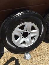 """5 x Genuine Land Cruiser 200 GX 17"""" steel wheels with tyres, caps Warner Pine Rivers Area Preview"""