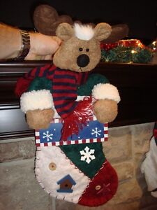 Set of 2 Christmas Stockings -Shown in these pictures $8/both Kitchener / Waterloo Kitchener Area image 3